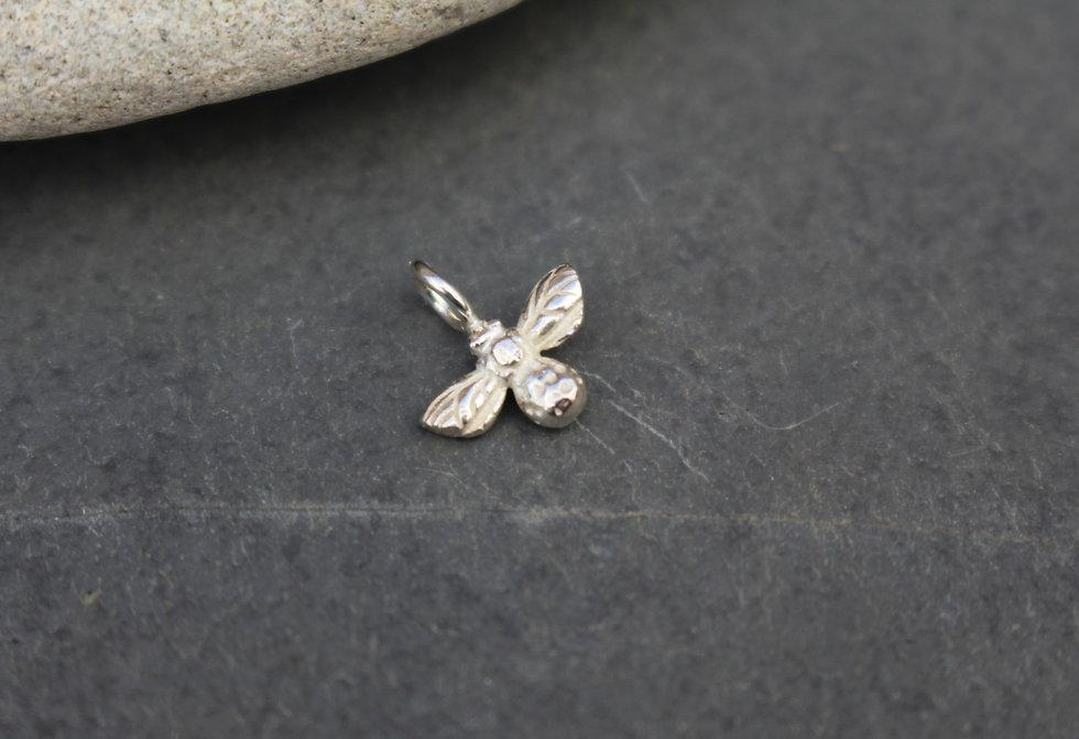 Silver Tiny Bee Charm