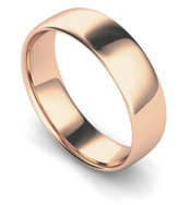 9ct Rose Gold 6mm Traditional Court Wedding Band