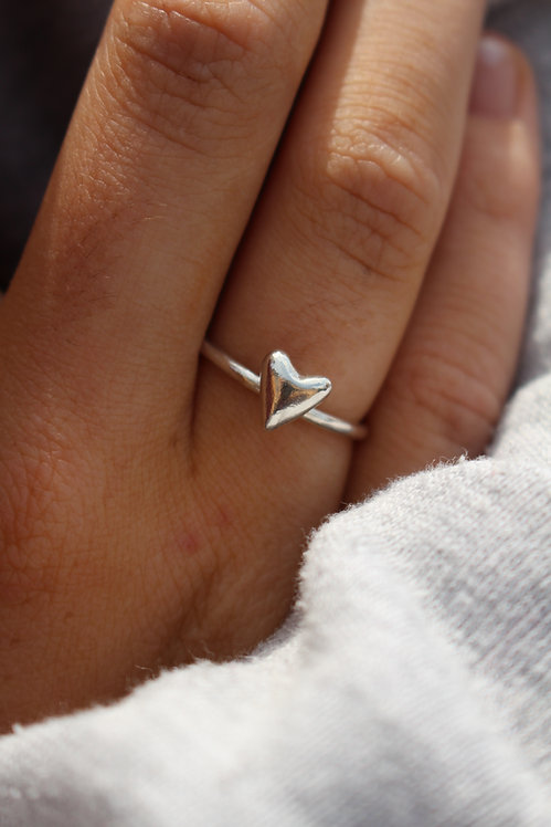 Stackable Fat Heart Ring