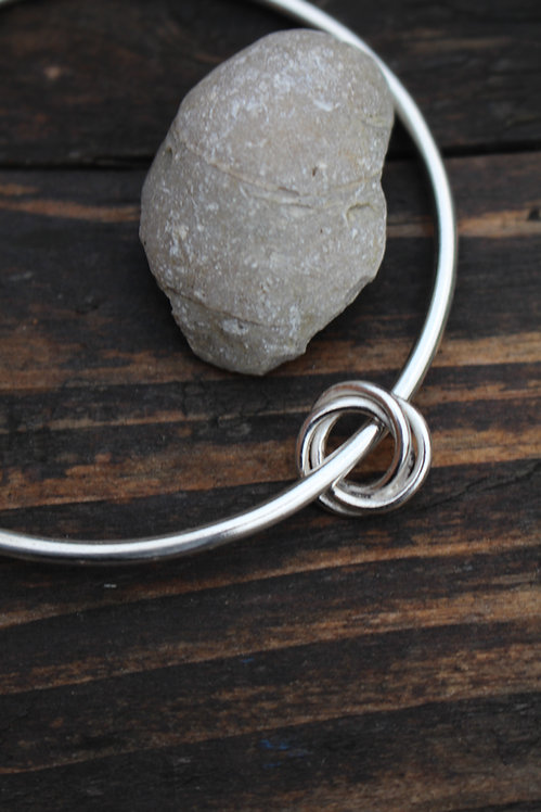 Silver Celtic Love Knot Bangle