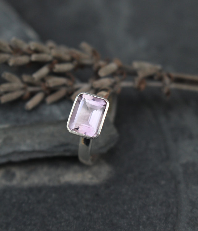 Silver Lilac Pastel Ring