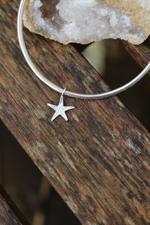 Silver Starfish Bangle