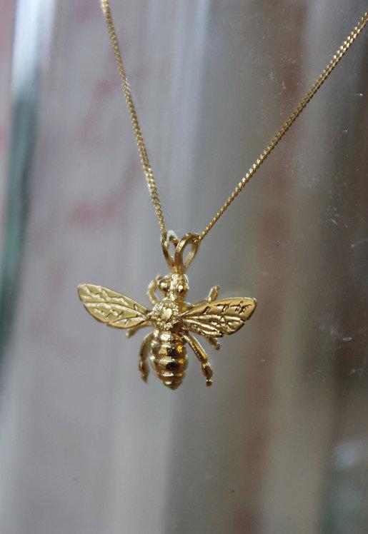 Gold Vermeil Bee Pendant