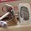 Thumbnail: Silver Oxidised Fingerprint Cufflinks