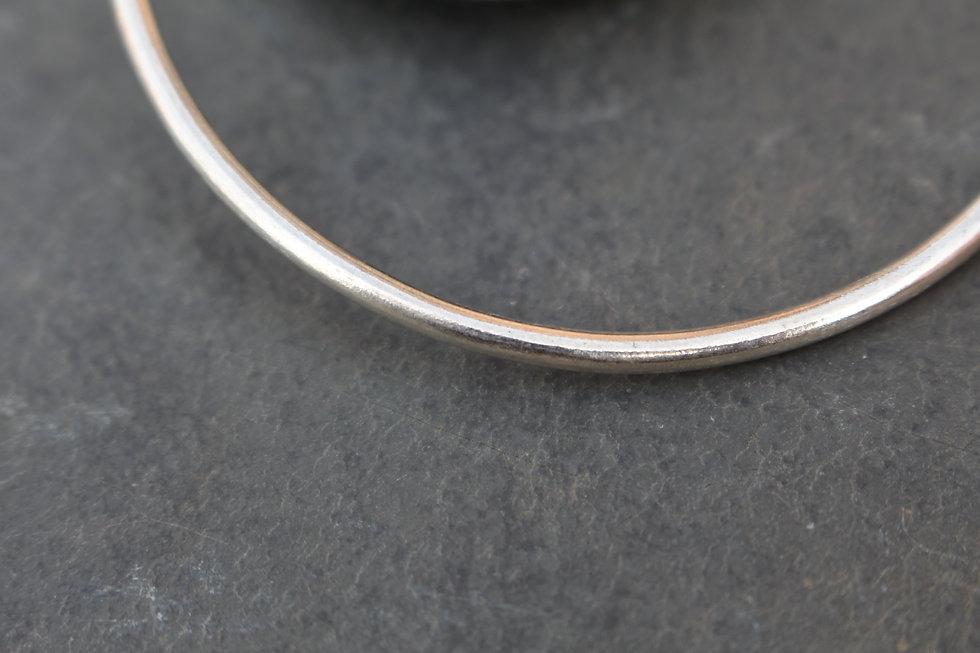 Silver Plain Bangle Charm Bracelet