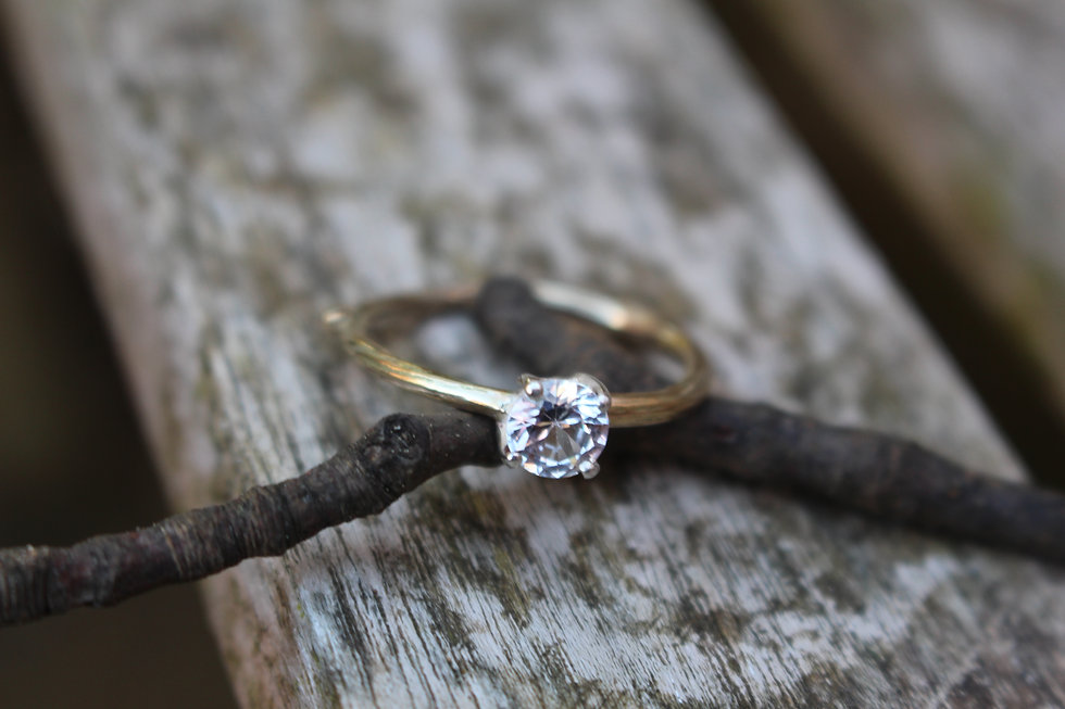0.80ct Claw Twig Engagement Ring