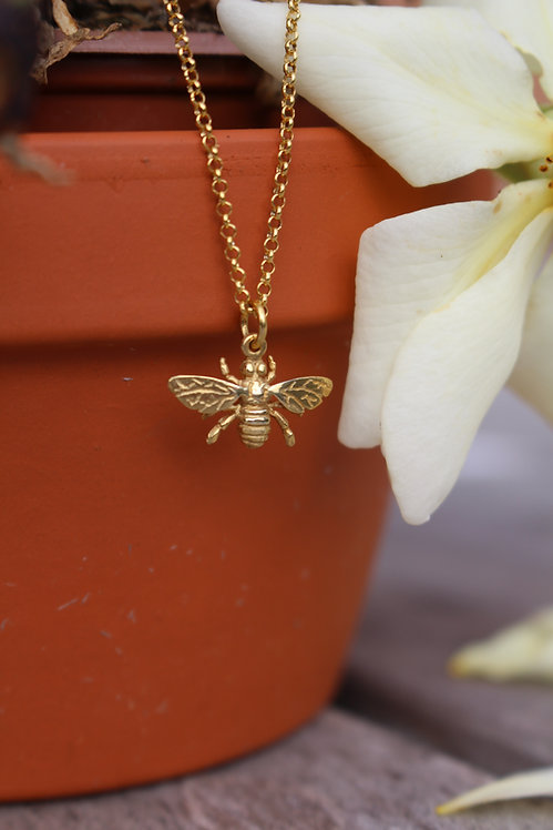 Gold Small Wasp Pendant
