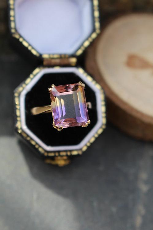 9ct Yellow Gold Ametrine Ring