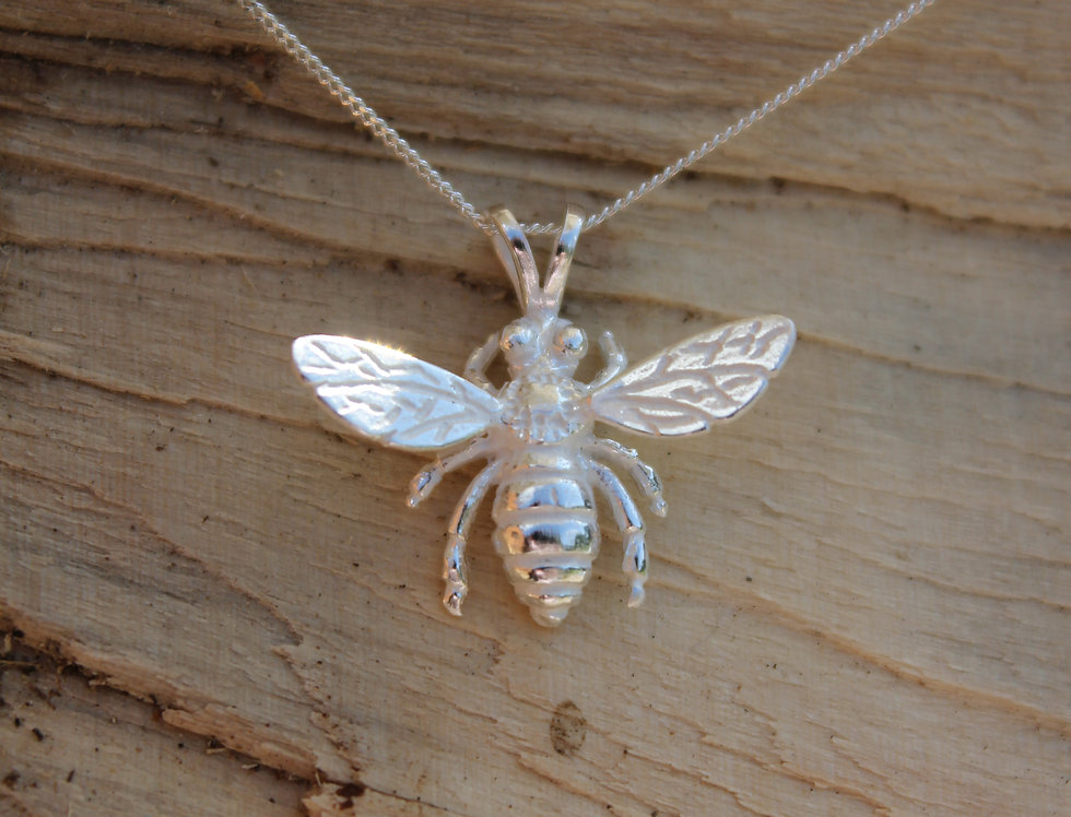 Silver Large Wasp Pendant
