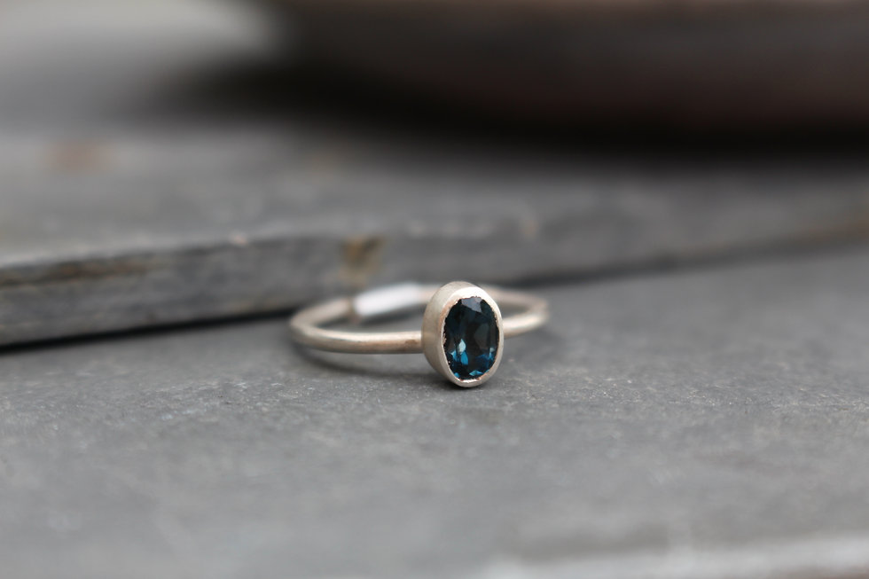 Silver London Blue Topaz Ring