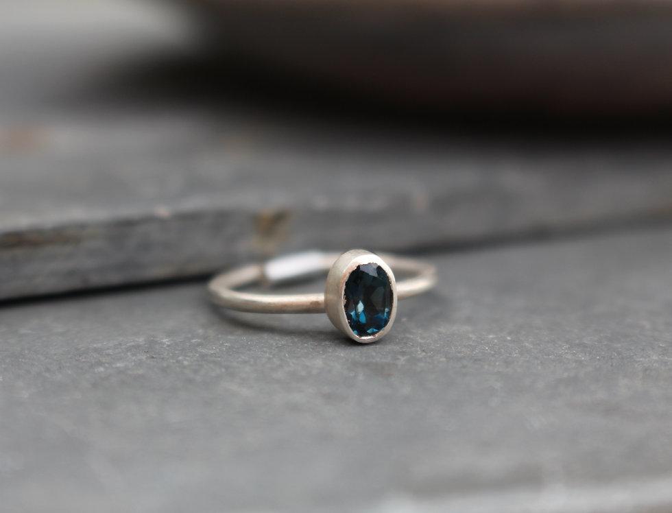 Silver London Blue Topaz Ring