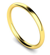 18ct Yellow Gold 2mm Traditional Court Wedding Band