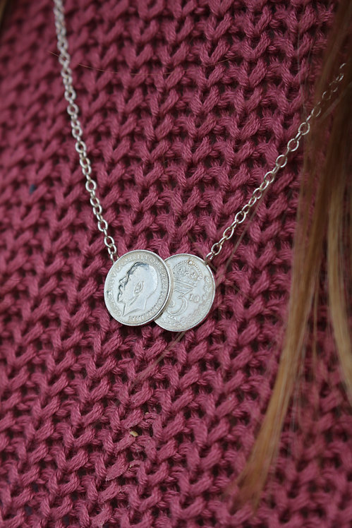 Silver Real Coin Necklace