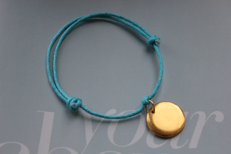 Personalised Disc Gold Plated Charm Bracelet