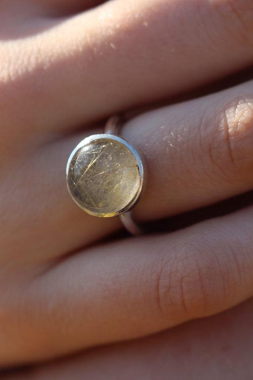 Silver Round Rutlie Gold Ring