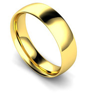 18ct Yellow Gold 6mm Traditional Court Wedding Band