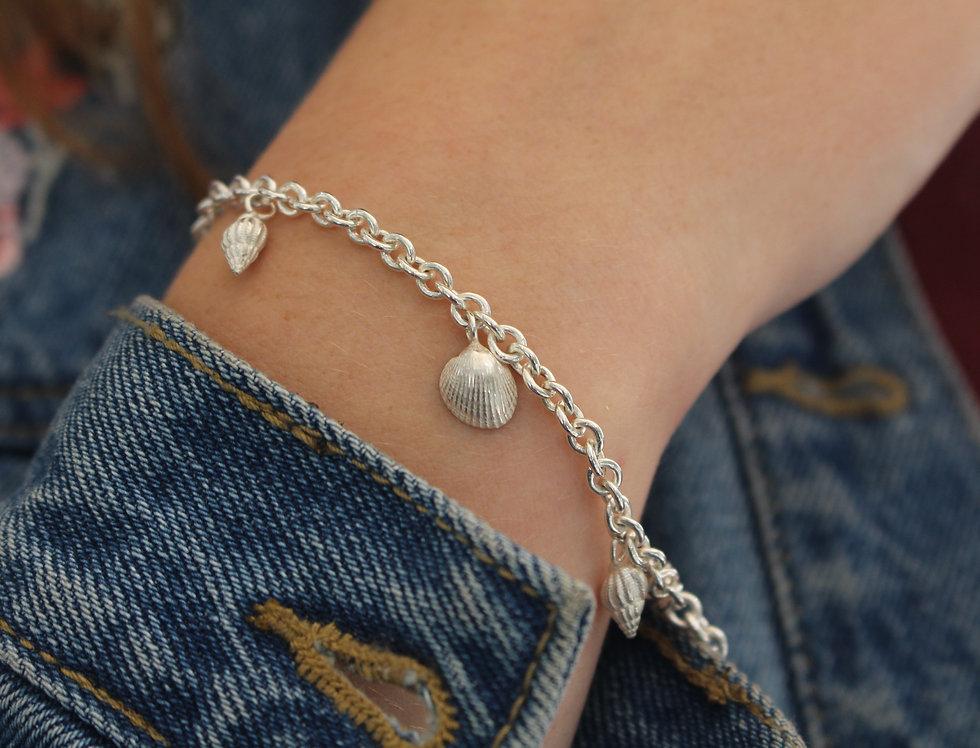 Silver Shell Charm Bracelet