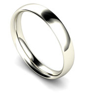 9ct White Gold 4mm Traditional Court Wedding Band