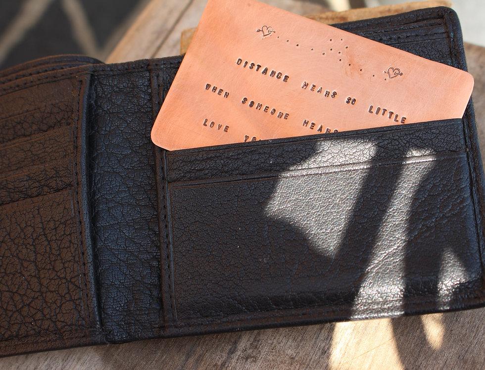 Personal Message Wallet Insert