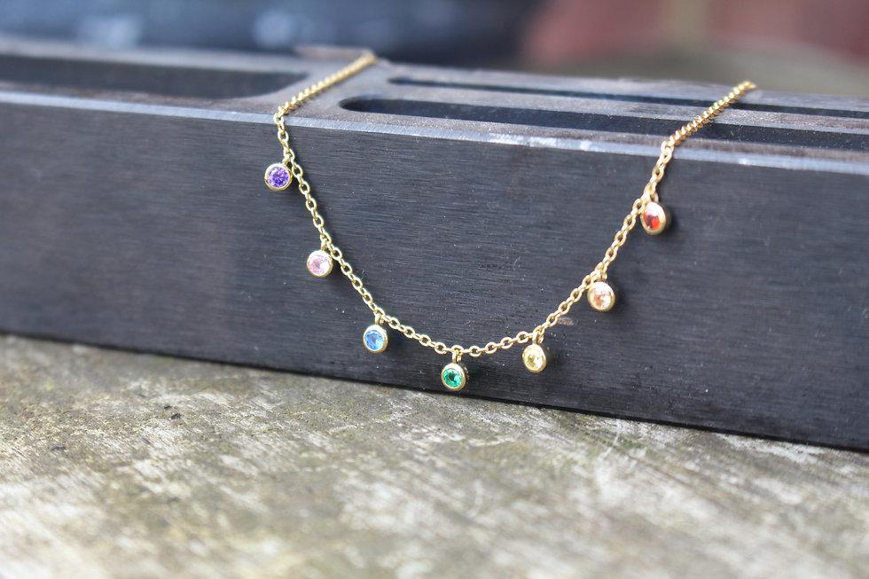 Rainbow Dot Necklace