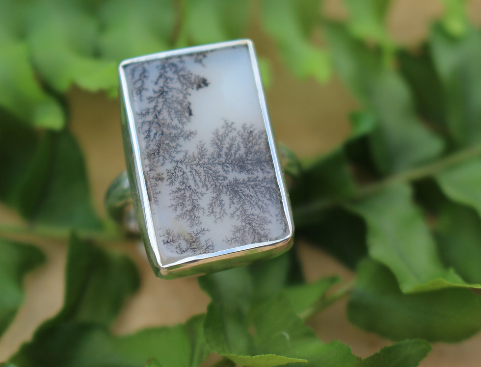 Silver One Off Dendrite Ring