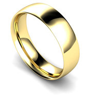 9ct Yellow Gold 7mm Traditional Court Wedding Band