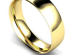 9ct Yellow Gold 6mm Traditional Court Wedding Band