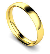 18ct Yellow Gold 4mm Traditional Court Wedding Band