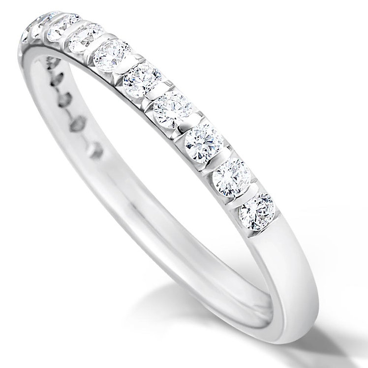 Half Bar Set Diamond Ring