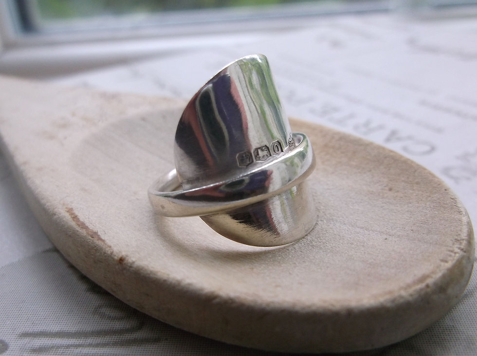 Silver Antique Spoon Ring