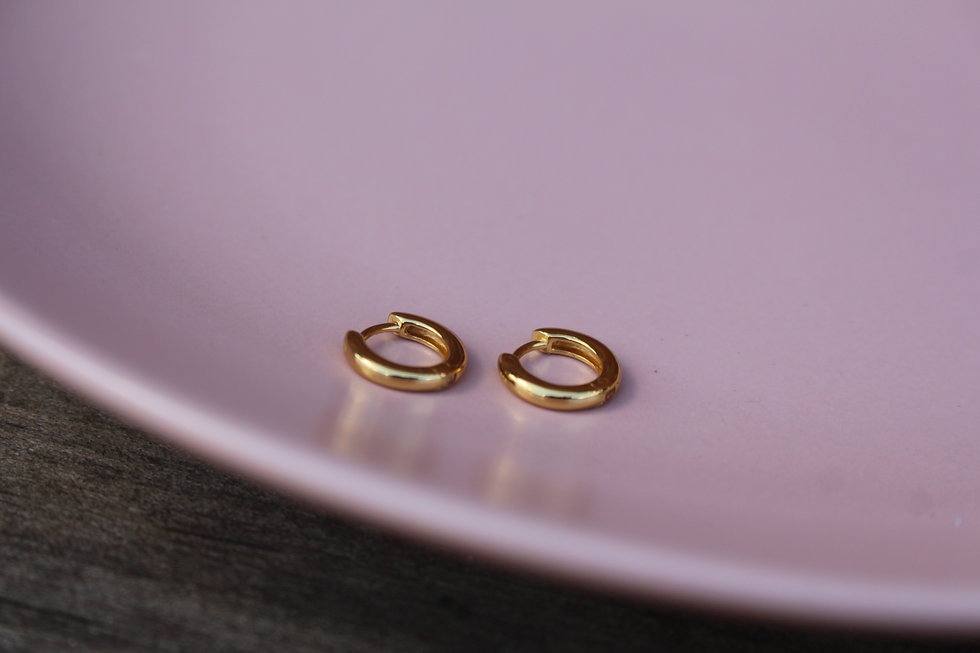 Gold Tiny Huggie Hoops