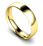 9ct Yellow Gold 5mm Traditional Court Wedding Band