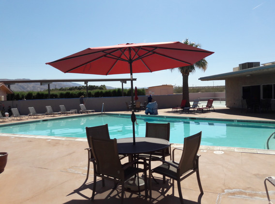 Relaxing by the Mineral Springs Pool