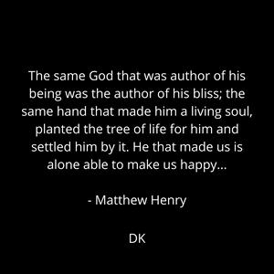 Matthew Henry quote deannakohlhofer.com