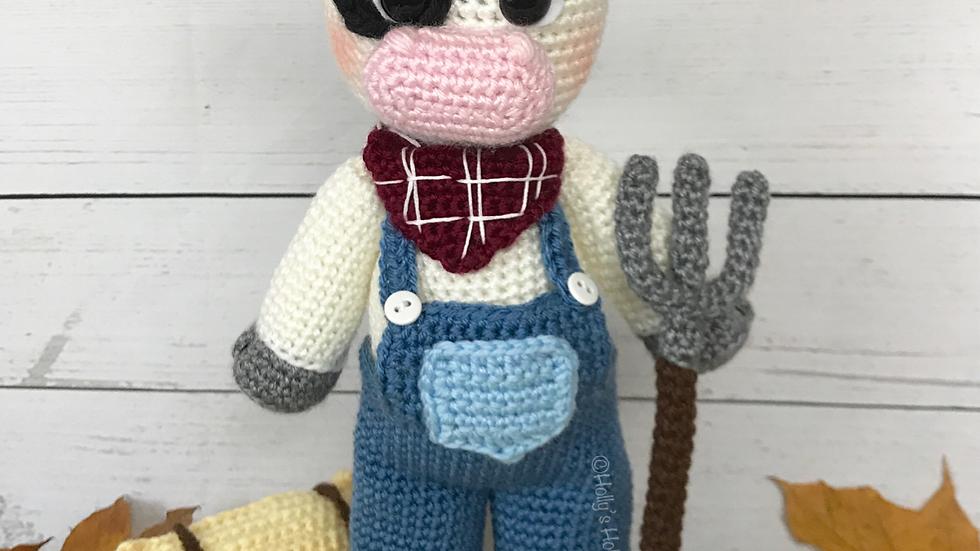 Farmer Clarence Cow Crochet Pattern