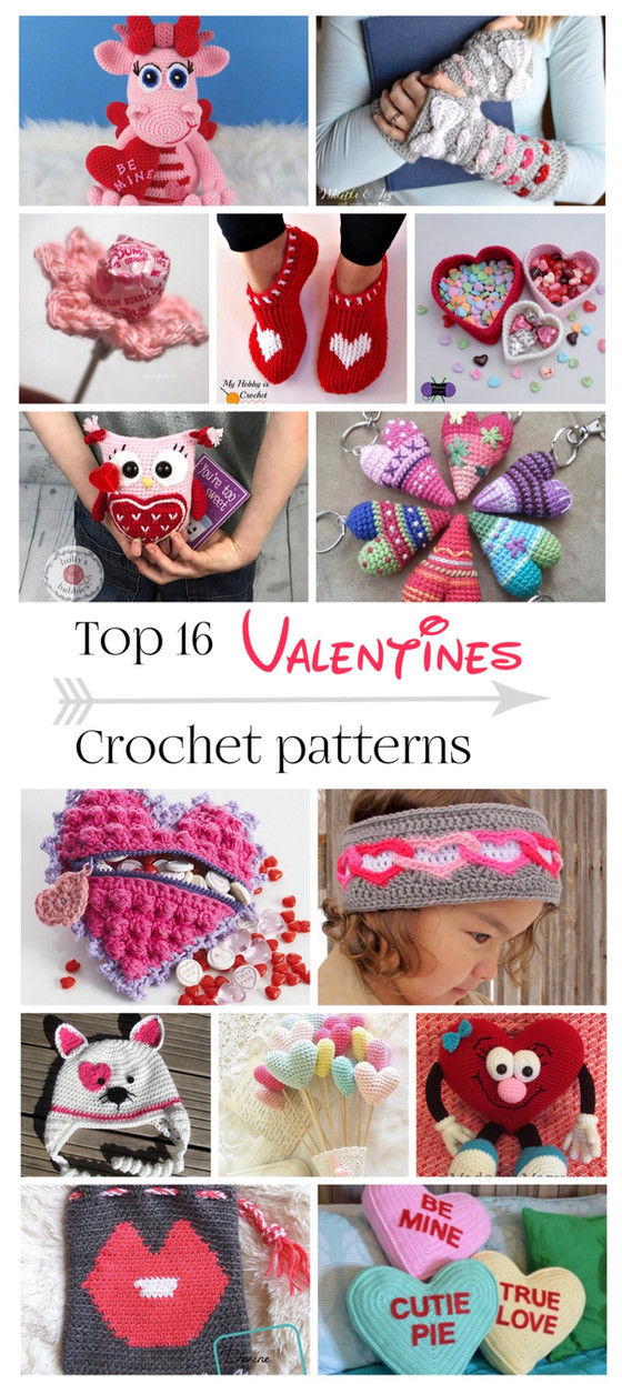 Top 16 Valentines Crochet Patterns