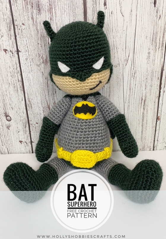 Bat Superhero: FREE Crochet Pattern