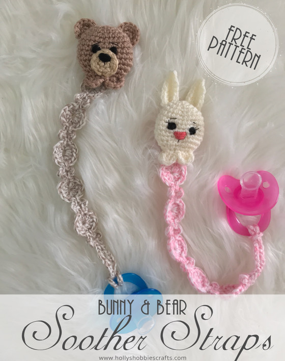 Bunny & Bear Soother Strap: Free Pattern