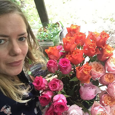 Rosie with her Roses 🌹