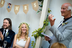 Bride and Groom at reception