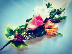 Wire work #floral headdress
