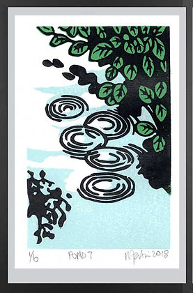 POOL 7  Lino print