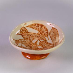 (SOLD) Gum Leaf Dish - Small