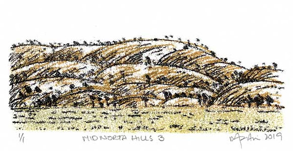 Mid North Hills 3    Monoprint