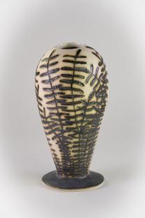 SOLD -Fossil_Fern_Vase