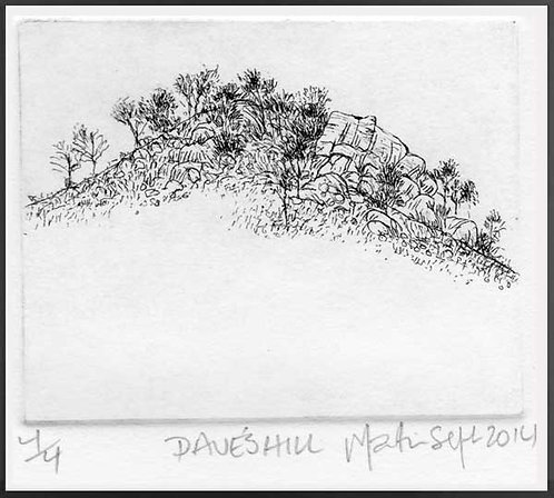 DAVE'S HILL   Etching
