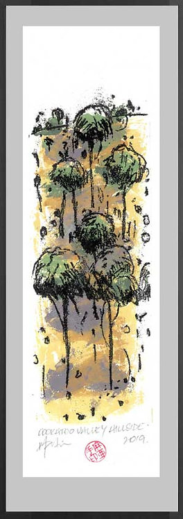 COCKATOO VALLEY HILLSIDE. Monoprint