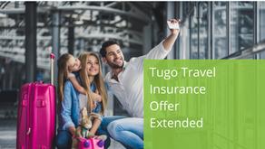 Tugo Travel Insurance Offer Extended