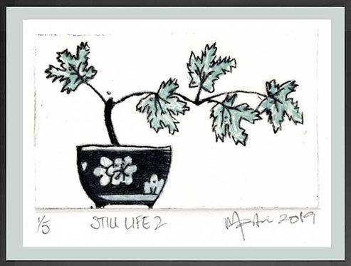 STILL LIFE 2 Drypoint and monoprint