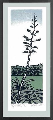 FARRELL FLAT  Reduction Lino print